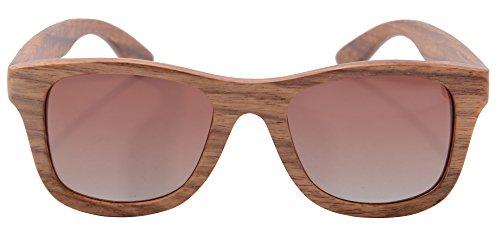 Hombres Vintage de Pear Espejos Sol Gafas Gafas SHINU los Gafas de Brown de Z6016 Sol Gafas Anteojos de Sol de Madera Lentes Madera Polarizadas de Bambú de Gradient y de 6B6R7xq