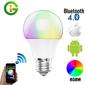 Best to buy bluetooth smart 6w 7 5w e26 led for Best bluetooth light bulb speaker