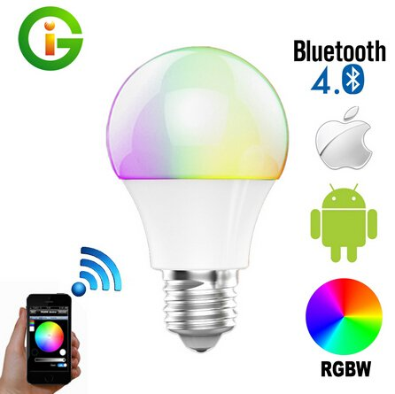 Best to Buy Bluetooth Smart 6W/7.5W E26 LED Light Bulb Speaker Dimmable Multicolored Color Changing LED - works with iPhone, Android, Windows and Amazon Fire Phone & Tablet (7W )