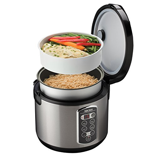aroma housewares arc 2000asb professional 20 cup cooked digital rice cooker. Black Bedroom Furniture Sets. Home Design Ideas