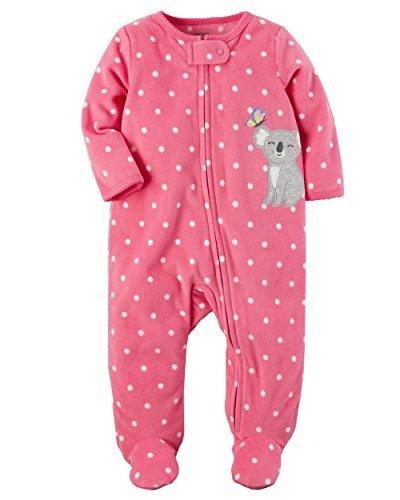 Carter's Baby Girls' Fleece Zip Up Koala Sleep & Play Newborn
