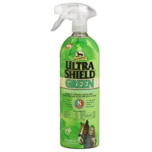 Spray Fly Sweat Endure Resistant (Absorbine UltraShield Green Natural Fly Repellent)
