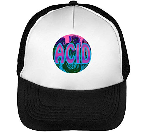 Flower Deep Beisbol Blanco Back Negro Fonted Hombre Acid Gorras Grounded Snapback UAwqqdE