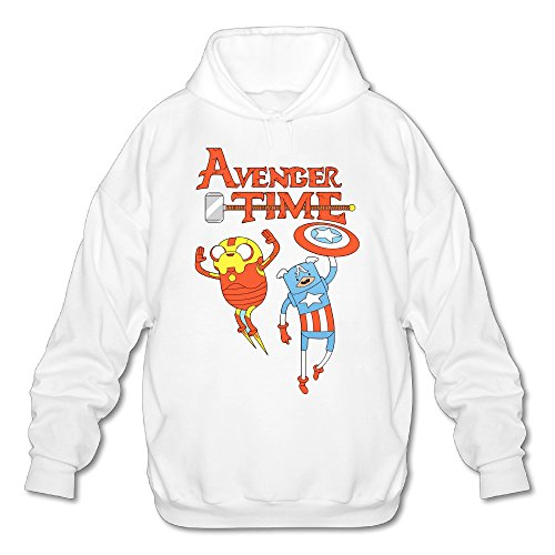 Wesley Adventure Time Men's Fashion Hoodie White XL (Marceline Adventure Time Costume)