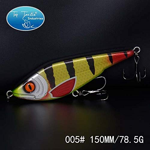 (Motion Buster Pencil Lure Jerk Bait Lifelike Slow Sinking Fishing Lure 150mm 78.5g - (Color: 150mm 005))