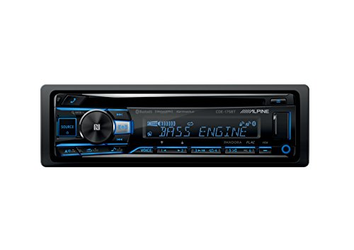 Alpine CDE-175BT, Single-DIN CD Car Stereo w/Bluetooth, USB