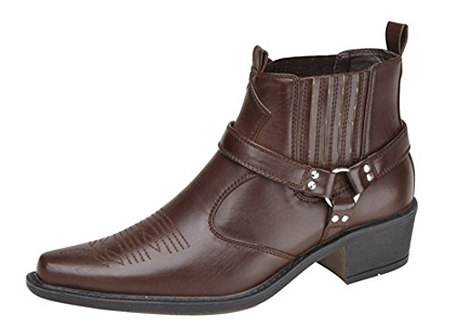 cowboy Dark Brass Brown Stivali Us da uomo wXt4d