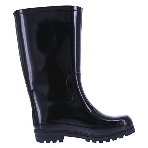 Image of Rugged Outback Women's Black Women's Tsunami Rainboot 10 Regular