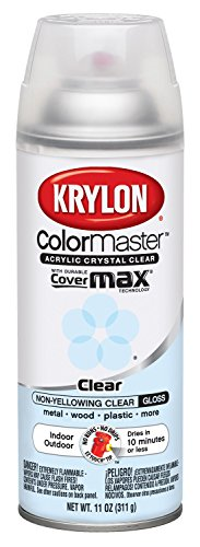 Gloss Clear Spray Paint - Krylon K05130107 ColorMaster Acrylic Crystal Clear, Gloss, Clear, 11 oz.