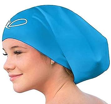 6667a717f82 Bonnet de Bain pour Cheveux Longs - Bonnets de Natation pour Femmes et  Hommes - Bonnets