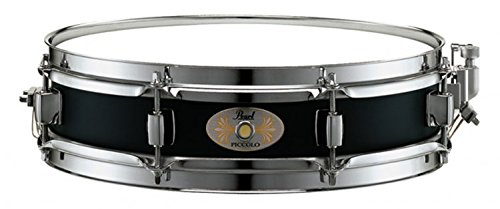 Pearl S1330B 13 x 3 Inches Black Steel Piccolo Snare Drum by Pearl