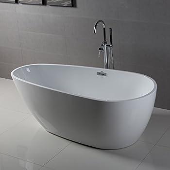bath tub. FerdY 67  x 32 Bathroom Freestanding Acrylic Soaking Bathtub Contemporary Style cUPC Happy Life Portable Plastic Blue Tubs Amazon com