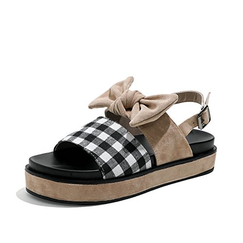 YMFIE Las Sandalias del Dedo del pie del pie Plano de Las Sandalias de la Manera Casual del Verano arquean los Zapatos al Aire Libre de la Playa, 40 UE 37 EU