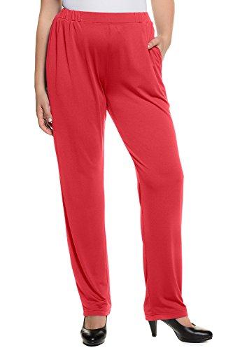 Ulla Popken Women's Plus Size Jersey Knit Straight Leg Pants Dark Purple 12/14 713896 80