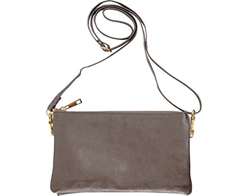 or Vegan Includes Straps Small Purse Bag Leather Chic Clutch and Humble Shoulder Wristlet Crossbody Gunmetal Wrist Adjustable TAxwvYSq