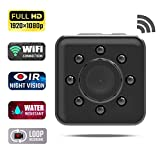 Mini WiFi Hidden Camera Wireless Spy Camere,Waterproof 1080P HD Small Nanny Cam Home Security Cameras with Night Vision for Indoor Outdoor Review