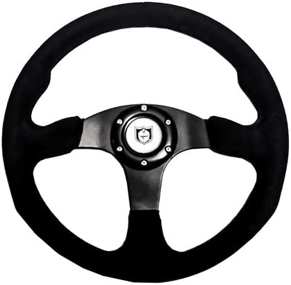 """Black with Black Stitch Pro Armor Force Steering Wheel 13/"""" Circle"""