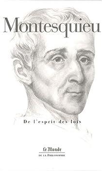 De l'esprit des lois par Montesquieu