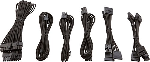 Corsair CP-8920202 SF Series Premium PSU Cable Kit Individually Sleeved Black Power Supply