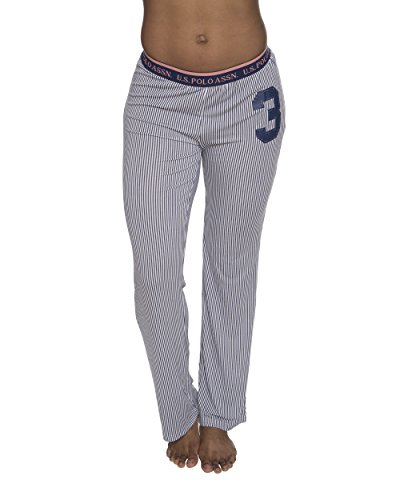 Spandex Stretch Sleep Pant (U.S. Polo Assn. US Polo ASSN. Women's Casual Lounge/Sleepwear Patterned Long Pajama Pant Charcoal X-Large)