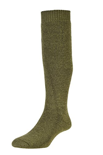 New SubZero Wool Blend Cushioned Long Thermal Walking Socks Large Uk10-12 Military Green hot sale
