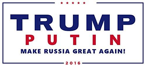 Color Comedy Paper Sticker Anti Donald Trump Vladimir Putin Make Russia Great Again