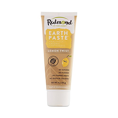 (Redmond Earthpaste - Natural Non-Flouride Toothpaste, LemonTwist, 4 Ounce Tube (1 Pack))