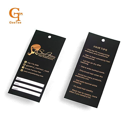 Lysee 200pcs Custom Brand Name Logo Printed Paper Swing Hang tag,OEM Shopping Tags Labels, Paper Price Labels Tags - (Color: 100pcs)