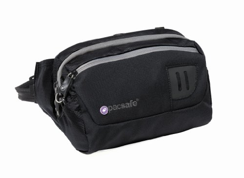 Pacsafe  Venturesafe 100 Hip Pack,Black,One Size, Outdoor Stuffs