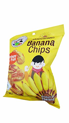 3 packs of Banana Chips, Crispy Banana by Mae Napa, Healthy and Delicious Snack. Premium quality snack from Thailand.(35 g/pack) by Mae Napa