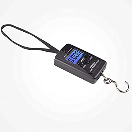 Zhrui Maletas Digitales a Escala Balanza electrónica para Maletas con básculas de Gancho Pesas portátiles