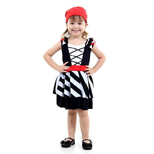 Pirata Bebê Feminino Pop Sulamericana Fantasias 2 Anos