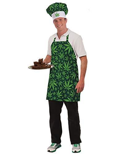 Forum Novelties Men's Cannabis Costume Hat and Apron,