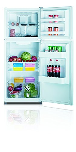 apartment refrigerator with top mount freezer stainless steel