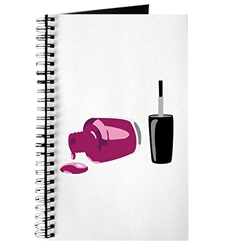 CafePress Spilled Nail Polish Journal Spiral Bound Journal Notebook, Personal Diary, ()