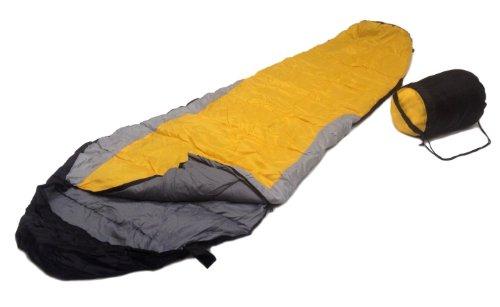 SLEEPING BAG MUMMY Type 8′ Foot 20+ Degrees ORANGE GRAY BLACK – Carrying Bag NEW, Outdoor Stuffs