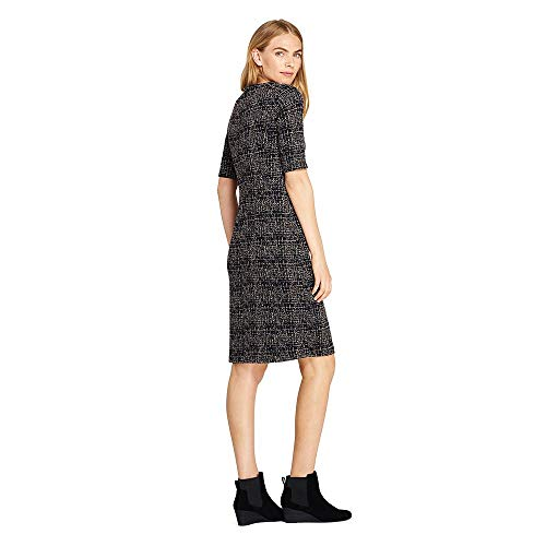 7ba37374 Lands' End Women's Tall Ponte Knit Sheath Tweed Dress with Elbow Sleeves