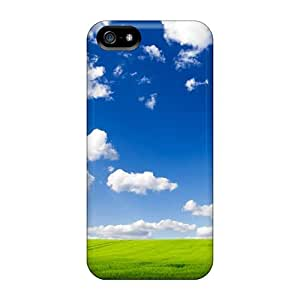 Wondercase Snap On Hard Case Cover Green Field And Blue Sky Landscape Protector For Iphone 5/5s