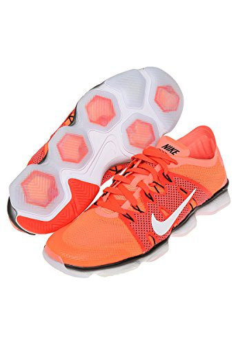 Nike Wm Air Zoom Fit Agility 2, Zapatillas de Gimnasia para Mujer Naranja (Brght Mng / White-Brght Crmsn-Bl)