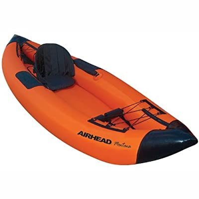 AHTK-1 Airhead Travel Deluxe Kayak, Orange/Blue from Sportsman Supply Inc.