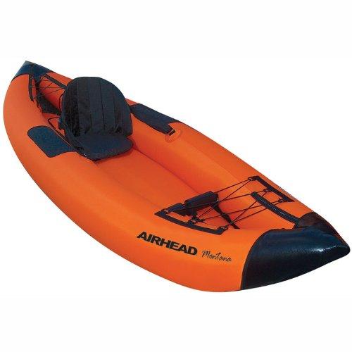 Airhead Inflatable Kayak (Airhead Travel Deluxe Kayak, Orange/Blue)