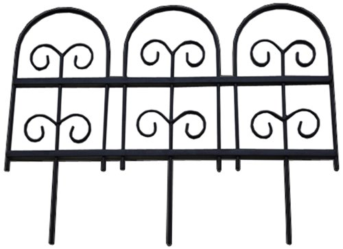 Pangaea Home and Garden Garden Fencing Edging, Round (Frame Fence Picket Flower)