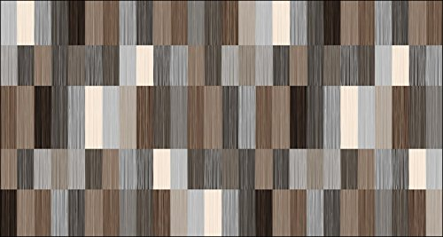 Area Rug with Non-skid Rubber Backing, Decorative Modern Carpet for Living, Dining & Children's Rooms, Bedroom Anti-slip Throw Runner for Kitchen, Bathroom, Hallway & Entyr Postmodern Brown (2'7