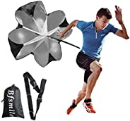 """ANPOPO Bfsmile Running Speed Training 56"""" Parachute with Adjustable Strap, Free Carry Bag. Speed Chute Re"""