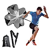 Bfsmile Running Speed Training 56' Parachute with Adjustable Strap, Free Carry Bag. Speed Chute Resistance Running Parachute for Kids Youth and Adults