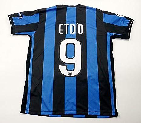 buy popular c2593 545a2 SAMUEL ETO'O#9 INTER MILAN HOME RETRO SOCCER JERSEY 2011 ...
