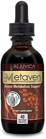 Metaven – Advanced Blood Sugar Support Supplement – Fast-Acting Liquid Formula – Chromium, Nopal Cactus, Cinnamon and More