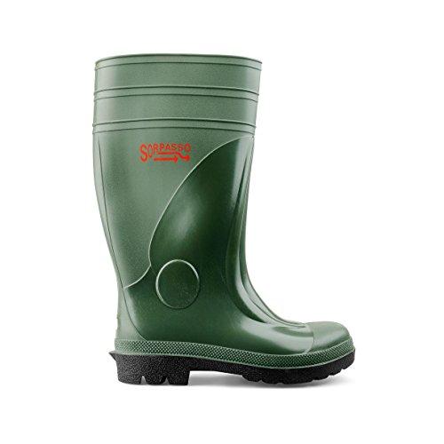 SOCIM-Stivale seguridad, PVC, 4024 ppp, 2ª categoría S5, verde verde