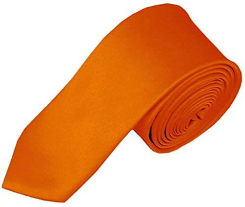Orange Silk Boys Ties - 9