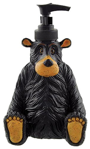 (Sitting Black Bear Liquid Soap Lotion Pump Dispenser, 7.5-inch)